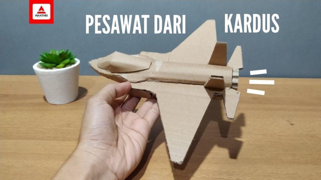 Cara Membuat Pesawat Jet Dari Kardus Bekas
