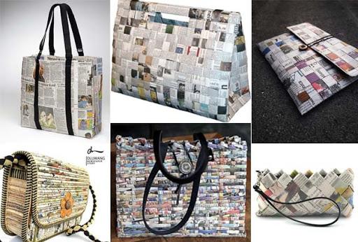 cara membuat tas dari koran bekas