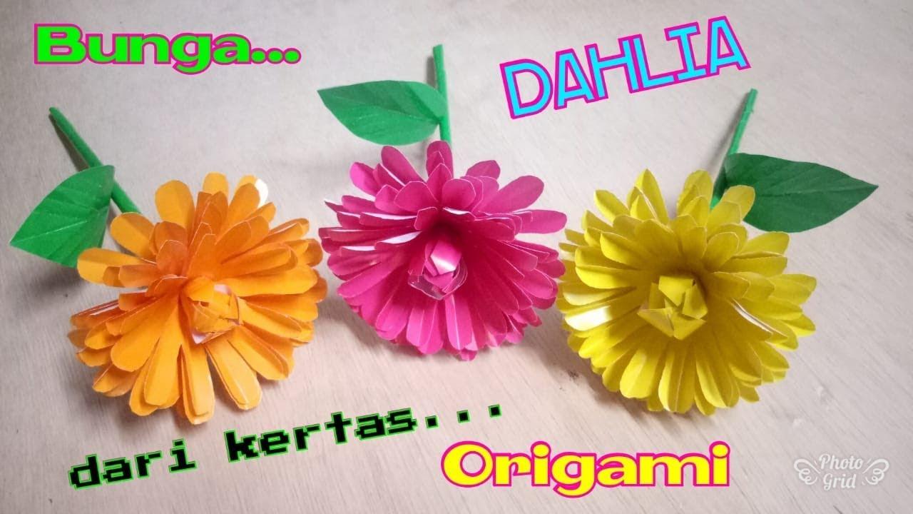 Cara Membuat Bunga Dahlia Dari Kertas Bekas Beli Kertas Kardus Bekas Yogyakarta