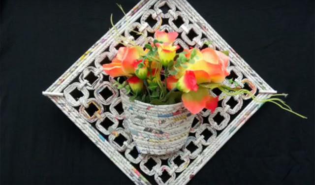 Cara Membuat Pot Bunga Dari Kertas Bekas Beli Kertas Kardus Bekas Yogyakarta