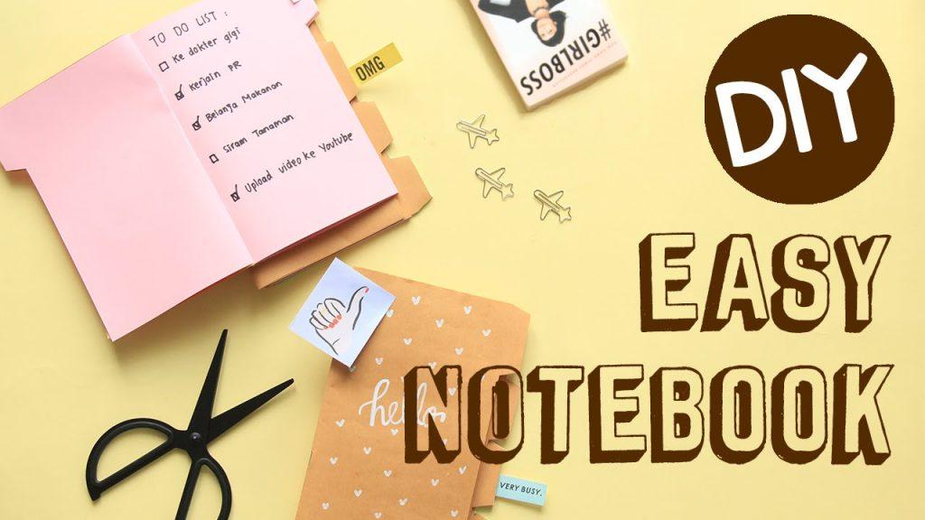 cara membuat notebook dari kertas bekas