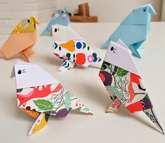 cara membuat burung dari kertas lipat