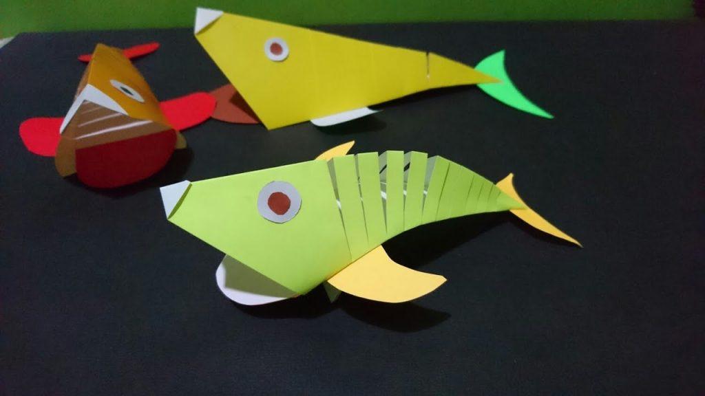 cara membuat ikan dari kertas lipat