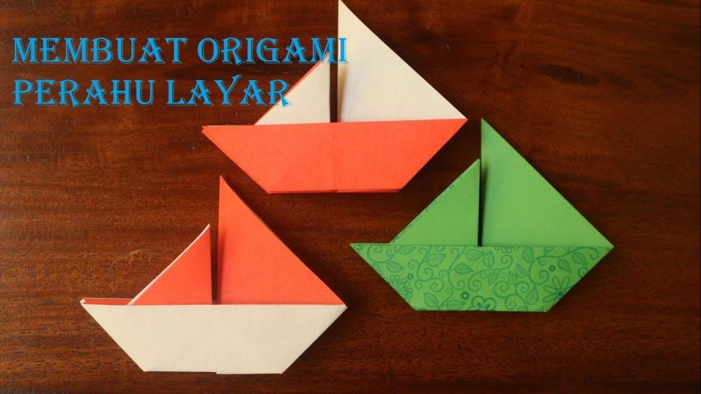 cara membuat kapal dari kertas lipat